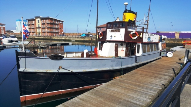 MV Coronia at Hartlepool - cre