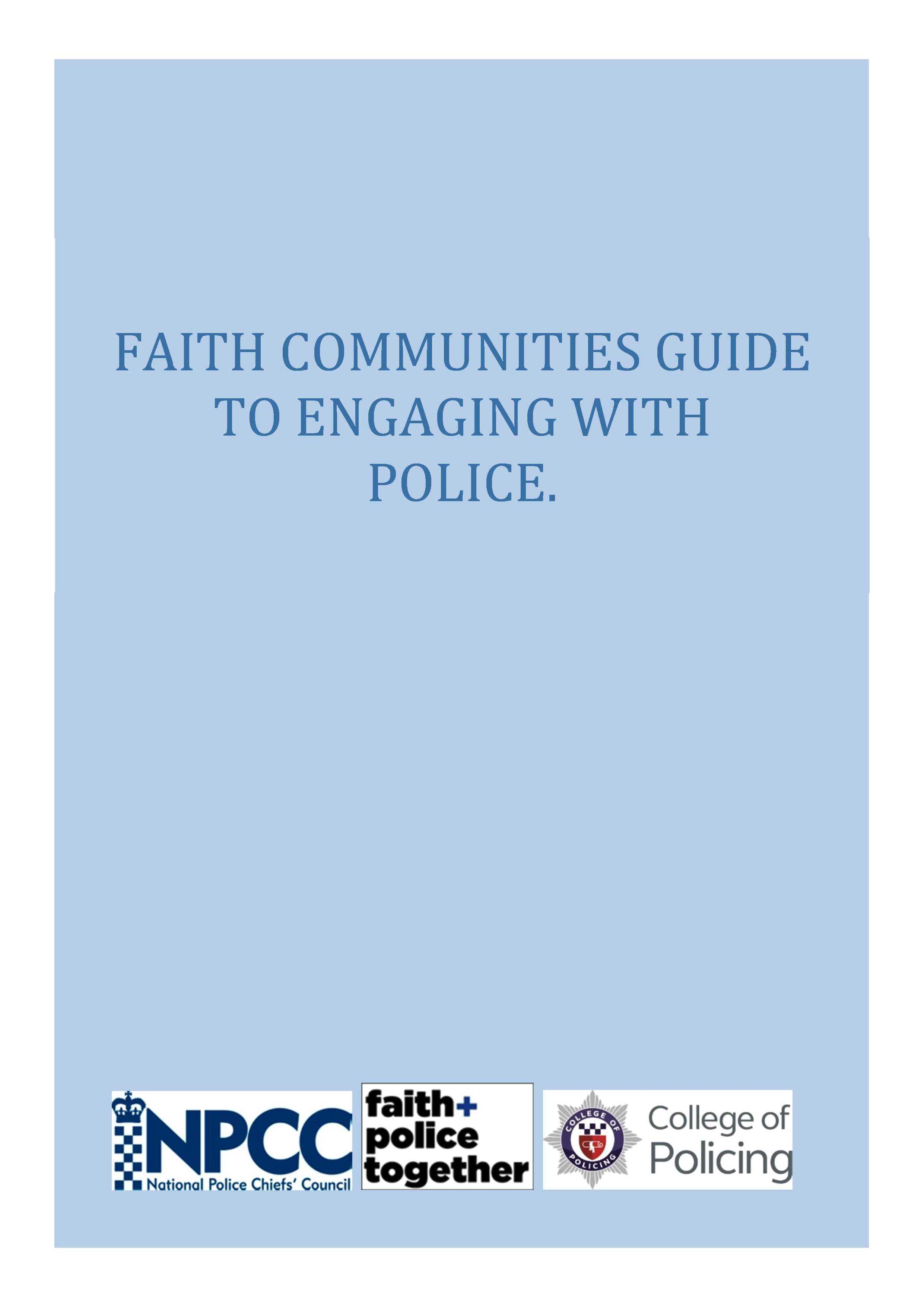 Faith Communities Guide to Eng